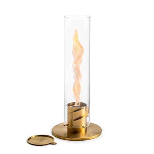 höfats Spin Bioethanol Fireplace for Indoor and Outdoor Table Fire, Lantern and Garden Torch Stainless Steel