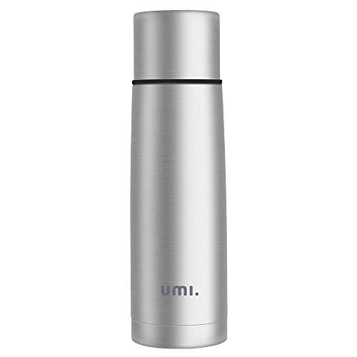 Umi. by Amazon - Vakuum Isolierflasche Thermosflasche 0,5 L aus 18/8 Edelstahl , leicht und kompakt,für Kinder, Outdoor, Schule, Laufen