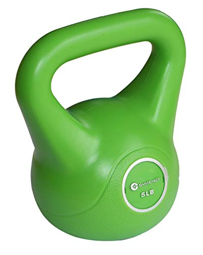 GYMENIST Exercise Kettlebell Fitness Workout Body Equipment Choose Your Weight Size (5 LB)