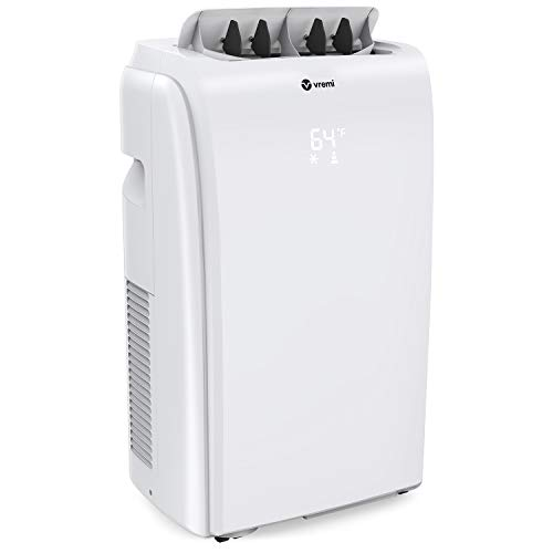 Vremi 10,000 BTU Portable Air Conditioner - Conveniently Cools Rooms 200 to 350 Square Feet - LED Display, Auto Shut-Off, Remote and Dehumidifier Function