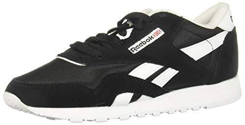 Reebok Classic Nylon, Sneaker Mujer, Black/Black/White, 38...