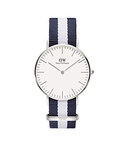 Daniel Wellington Damen-Armbanduhr Glasgow Analog Quarz Nylon DW00100047