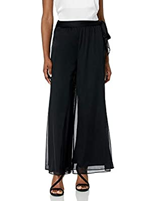 Evening pant Elastic waist This style is available in Regular, Plus Size and Petite on Amazon.com Full length pant