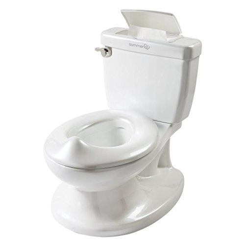 Summer Infant My Size Potty, White – Realistic Potty Training Toilet Looks and Feels Like an Adult Toilet – Easy to Empty and Clean