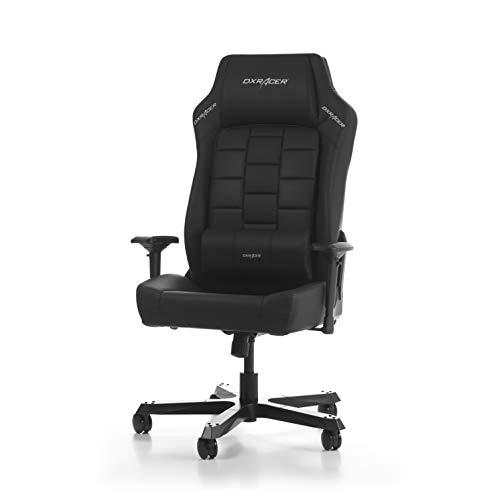 DX Racer (l'original) Boss B120 Chaise de Bureau, Similicuir, Noir, 185-200 cm