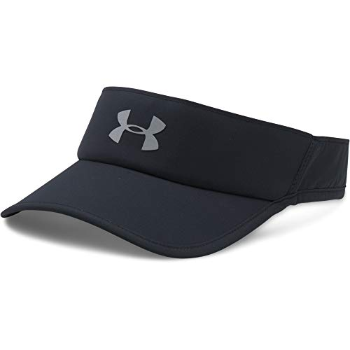 Under Armour Men's Shadow 4.0 Run Visor, Black (001)/Reflective, One Size Fits All