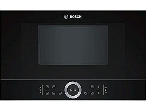 Bosch électroménager BFL634GB1 Série 8, Micro-ondes intégrable, 60 x 38 cm, 21 litres, Noir