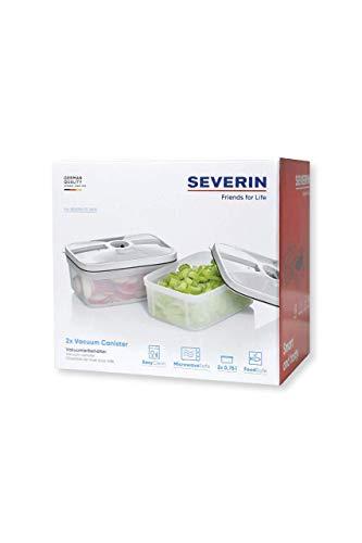 Severin ZB 3620 - 2 x Contenitori per sottovuoto per alimenti, Capacit 0,75 L