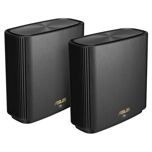 ASUS ZenWifi XT8 - Sistema Wi-Fi 6 Mesh Tri-Banda AX6600, Pack de 2...