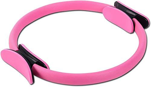 COOLGUY Pilates-Ring, magischer Fitness-Kreis, Trainingsgerät, Doppelgriff, Pilates-/Yoga-Ring für Straffung und Formung der inneren und äußeren Oberschenkel (Pink)