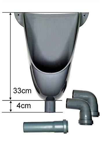 Urinal, Pissuar Wasserlos, WC Kabinen Urinal, Urinalbecken PVC glänzend