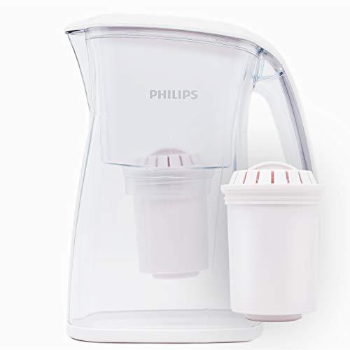 Philips AWP2970 Wasserfilter-Karaffe gegen Kalk, Chlor, Bakterien, Mikro-Plastik, Schwermetall, Filter mit Aktivkohle, Ultrafiltration