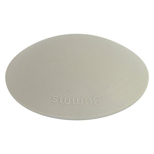 Bumms Türstopper Türpuffer Wandpuffer selbstklebend und schraubbar für Wand und Boden 60mm (grau, 1 Stück)