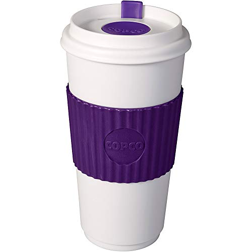 Copco 778362 16 oz. BPA Free Plastic Travel Slide Open Spillproof Lid Tumbler, Purple