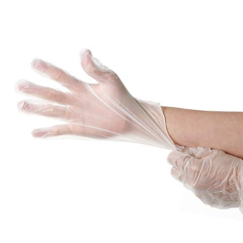 Industrial disposable gloves, plastic PVC material, 100 / box Extra large size