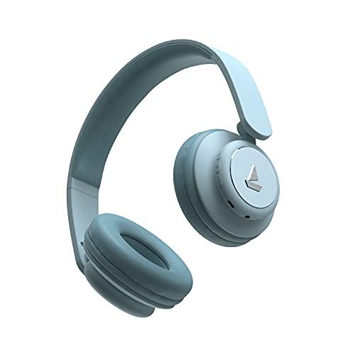 boAt Rockerz 450 Wireless Bluetooth On Ear Headphones with Mic (Aqua Blue)