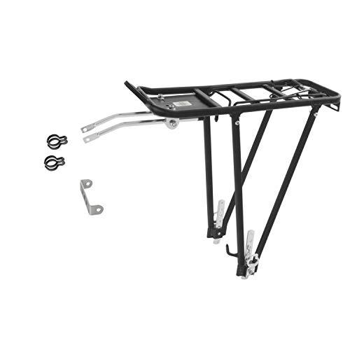 Ventura 440158 - Portapacchi in alluminio per bici, 24 '/ 26' / 28 ', colore: Nero