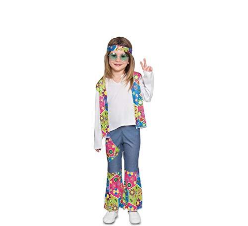 Fyasa 706374-T00 - Disfraz hippie para niña de 2 a 3 años, multicolor
