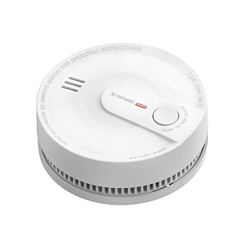 X-Sense Rauchmelder 10 Jahres Batterie, intelligenter Feuermelder, 5 Fach Schutz vor Fehlalarm, hochmodernem fotoelektrischem Sensor, TÜV Zertifiziert, SD2K