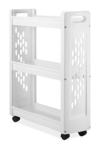 Whitmor 3 Tier Rolling Laundry Cart - Space Saving Mobile...