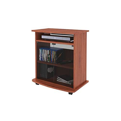 Carrello porta Tv colore ciliegio con vetrina Cm 62x40xH 73