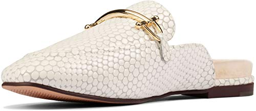 Clarks Pure 2 Mule White Interest Leather 9.5 B (M)