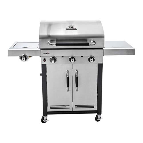 Char-Broil Advantage Series 345S - Barbecue in acciaio inox a 3 bruciatori con bruciatore laterale.