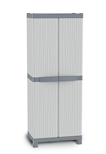 Terry Base 2700 UW Domino Base-2700 Armadio, 70x44x182, Grigio, 70 x 43.8 x 181.8 cm