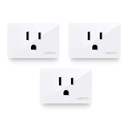 Wemo Smart Plug (Simple Setup Smart Outlet for Smart Home, Control Lights and Devices Remotely…