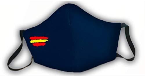 Macarilla azul protectora homologada 3 capas bandera de España