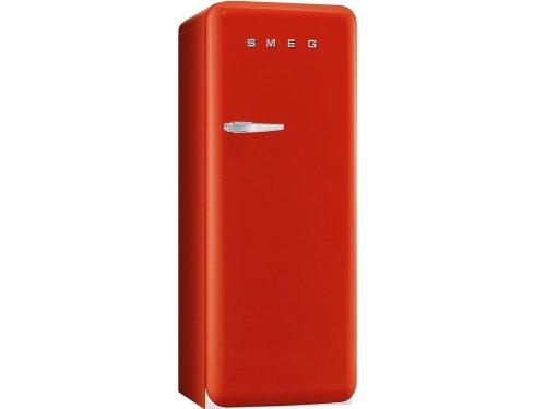 smeg CVB20RR1 congelatore monoporta anni'50 colore rosso cerniera destra