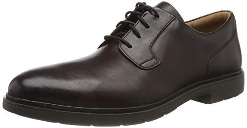 Clarks Un Tailor Tie, Zapatos de Cordones Derby Hombre, Braun Ox Blood Leather, 44 EU