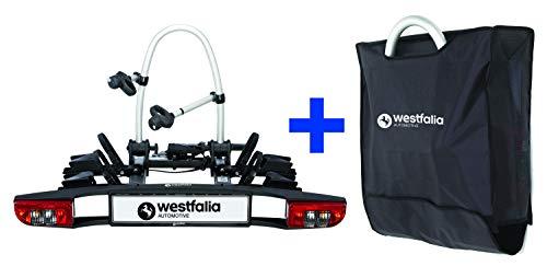 Westfalia BC 60 (Modell 2018) Fahrradträger für die Anhängerkupplung inkl. Tasche - Klappbarer...