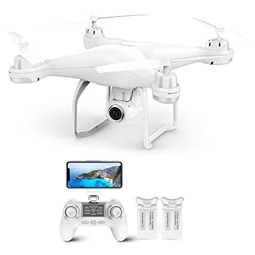 Potensic Drone GPS Telecamera 1080P, Drone Professionale T25 Dual GPS, Drone con la Telecamera Grandangolare Regolabile Camera HD WiFi FPV Quadricottero, Droni Funzione Seguimi Modalit Senza Testa