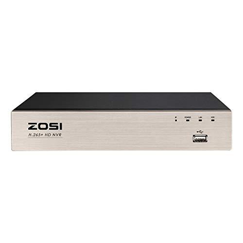 ZOSI 8CH H.265+ 5mp Onvif PoE NVR Network Videoregistratore Ricevitore senza Hard Disk per videosorveglianza, compatibile solo con ZOSI POE fotocamera