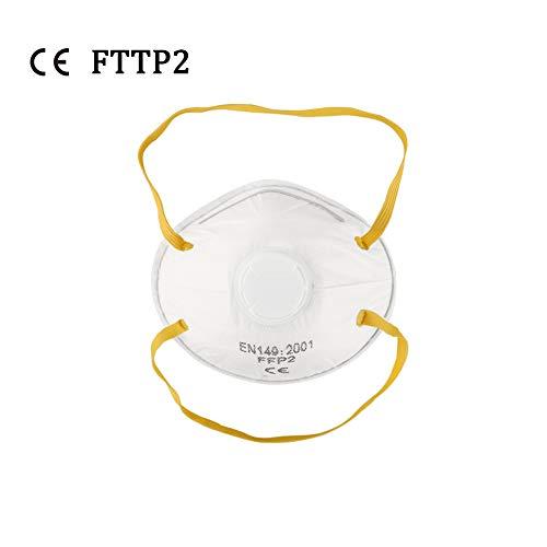SLTZ 20PCS Filtro Anti-inquinamento Filtro Protettivo per Il Viso con efficienza di filtrazione al 95% e Clip Regolabile per Naso,Valved