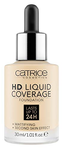Catrice | HD Liquid Coverage Foundation | High & Natural Coverage | Vegan & Cruelty Free (002 | Porcelain Beige)