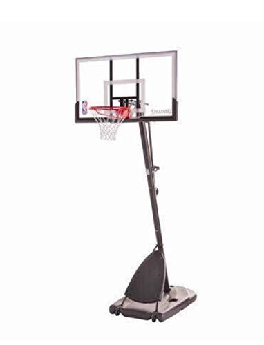 Spalding Pro Slam Portable NBA 54' Angled Pole Backboard Basketball System ((Black)) (Black, 54')