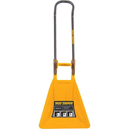True Temper 193025500 SnoForce Poly Snow Shovel/Pusher/Scraper with Ergonomic Handle, 20 Inch (Renewed)