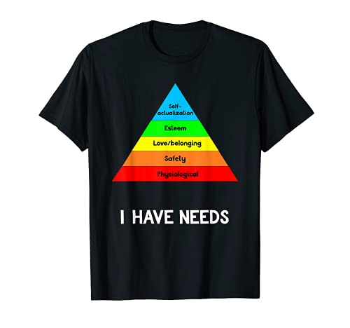 Funny Psychology Shirt Hierarchy Of Needs Psych Major Gift