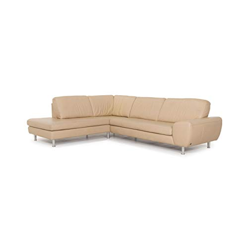 Willi Schillig leather sofa beige corner sofa