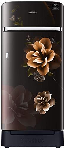 Samsung 198 L 5 Star Inverter Direct-Cool Single Door Refrigerator (RR21T2H2WCB/HL, Camellia Black,...