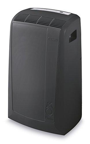 De'Longhi 3-in-1 Portable Air Conditioner, Dehumidifier & Fan + Remote Control & Wheels, 600 Sq Ft, Extra Large Room, 8500 (DOE) / 14000 BTU (ASHRAE), Dark Gray, PACN285GN