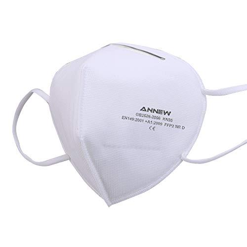 20 Maschere, Maschera KN95 / FFP2, maschera protettiva per respiratore a 5 strati, maschera per adulti