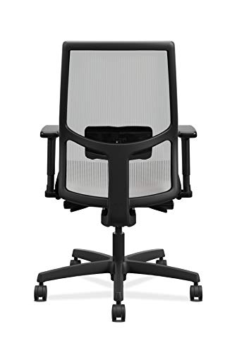 Product Image 6: HON Ignition 2.0 Mid-Back Adjustable Lumbar Work Fog Mesh Computer Chair for Office Desk (Black Fabric)