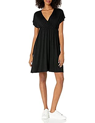 "This simple dress features a V-neck and a fit and flare silhouette for all day comfort Everyday made better: we listen to customer feedback and fine-tune every detail to ensure quality, fit, and comfort ""Personal Shopper Style Tip: Style this dress w..."