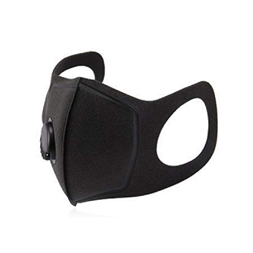 Maschera antipolvere con filtri PM2.5, Maschera unisex nera con filtri a carbone Maschera riutilizzabile Maschera filtro aria PM2.5 per ciclismo Campeggio Viaggi