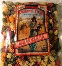 Trader Joe's Organic Pasta Vegetable Ridiatore 12-oz Per Bag (Case of 4)