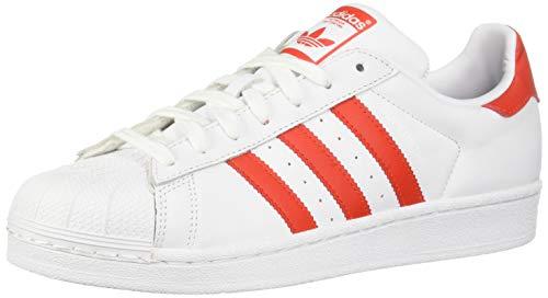 adidas Originals Superstar, Scarpe da Ginnastica Donna, Bianco Active Red Core Nero, 37.5 EU