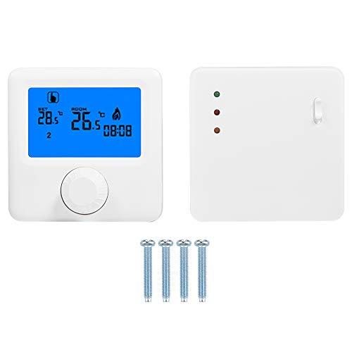 Contrôleur de température, Thermostat programmable de Grand écran sans Fil d'affichage à Cristaux liquides de Thermostat de Chauffage électrique de Digital 16A pour la chaudière Murale